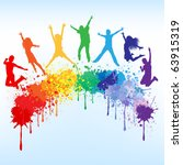 colorful bright ink splashes... | Shutterstock .eps vector #63915319