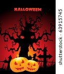 abstract scary halloween... | Shutterstock .eps vector #63915745