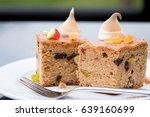 delicious fruit cake decorate... | Shutterstock . vector #639160699