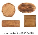 set of wooden boards on white... | Shutterstock . vector #639166207