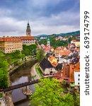 view of cesky krumlov  czech...   Shutterstock . vector #639174799