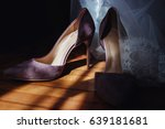 in the sunlight on the parquet... | Shutterstock . vector #639181681