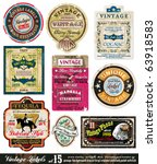 vintage labels collection  ... | Shutterstock .eps vector #63918583