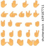 set of hand gesture for... | Shutterstock .eps vector #639187711