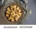 baklava  a pastry made with... | Shutterstock . vector #639199489