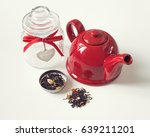 Red Teapot  Home Jar And Loose...