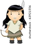 illustration of a woman dressed ...   Shutterstock .eps vector #63921556