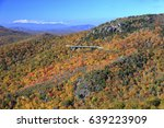 a view of linn cove viaduct and ... | Shutterstock . vector #639223909