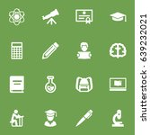 set of 16 science icons set... | Shutterstock .eps vector #639232021