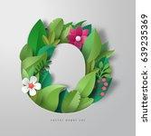 3d alphabet letter o. design of ... | Shutterstock .eps vector #639235369