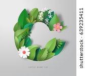 vector 3d letter c. pattern of... | Shutterstock .eps vector #639235411
