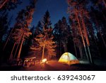 camping under stars with... | Shutterstock . vector #639243067