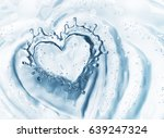 Heart From Water Splash With...