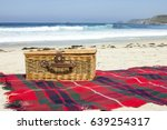 picnic basket by the seaside | Shutterstock . vector #639254317