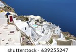 pyrgos  santorini  greece | Shutterstock . vector #639255247