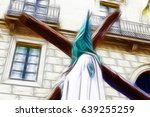 holy week procession  detail of ... | Shutterstock . vector #639255259