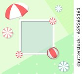 summer time vector banner... | Shutterstock .eps vector #639263161