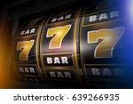 slot machine concept 3d... | Shutterstock . vector #639266935