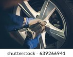 winter tires replacement and... | Shutterstock . vector #639266941