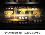 vegas slot winner 3d concept... | Shutterstock . vector #639266959