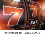 fire red slot game winner... | Shutterstock . vector #639266971