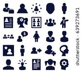 profile icons set. set of 25... | Shutterstock .eps vector #639273691