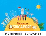 flat design  singapore... | Shutterstock .eps vector #639292465
