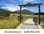 iron mountain hiking trail head ... | Shutterstock . vector #639296245