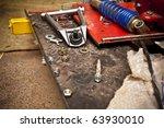 workshop parts - stock photo