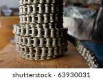 chain roll - stock photo
