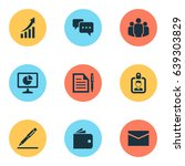 trade icons set. collection of... | Shutterstock .eps vector #639303829