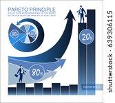 pareto principle. business laws.... | Shutterstock .eps vector #639306115