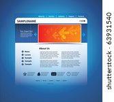 web site design template vector | Shutterstock .eps vector #63931540
