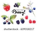 berries watercolor set... | Shutterstock . vector #639318217