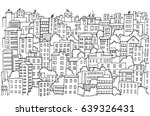 abstract cityscape hand drawn... | Shutterstock .eps vector #639326431