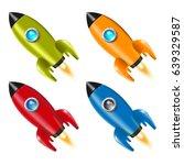 set. 4. rocket. spaceship....   Shutterstock .eps vector #639329587
