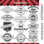 illustration set of sandwiches... | Shutterstock . vector #639330664