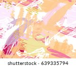 doodles with crayon and grunge...   Shutterstock .eps vector #639335794