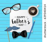 fathers day banner design with... | Shutterstock .eps vector #639340414