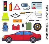 auto car repair service symbols ... | Shutterstock .eps vector #639341359