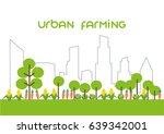 city vector line concept.... | Shutterstock .eps vector #639342001