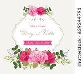 wedding invitation cards with... | Shutterstock .eps vector #639344791