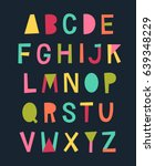 colorful cute uppercase... | Shutterstock .eps vector #639348229