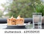 delicious fruit cake decorate... | Shutterstock . vector #639350935