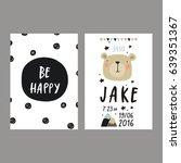 baby shower poster. newborn... | Shutterstock .eps vector #639351367