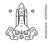 spaceship icon    Shutterstock .eps vector #639353461