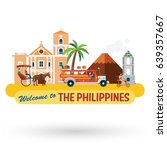 illustration of the philippines'... | Shutterstock .eps vector #639357667