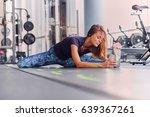athletic brunette female in...   Shutterstock . vector #639367261