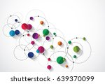 overlapping circles with... | Shutterstock .eps vector #639370099