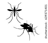 silhouette of mosquito. icon of ... | Shutterstock .eps vector #639371401